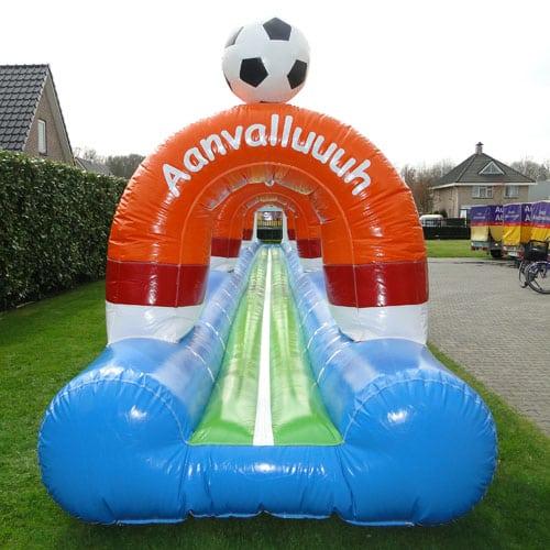 buikglijbaan voetbal huren in Drenthe