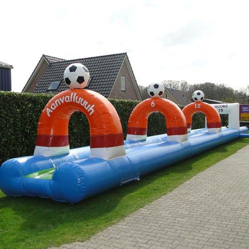 buikschuifbaan voetbal huren