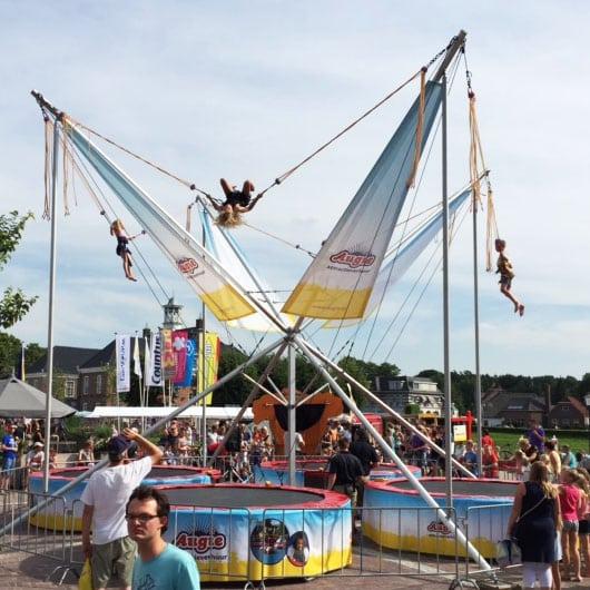 Nieuw uiterlijk voor onze bungee trampoline