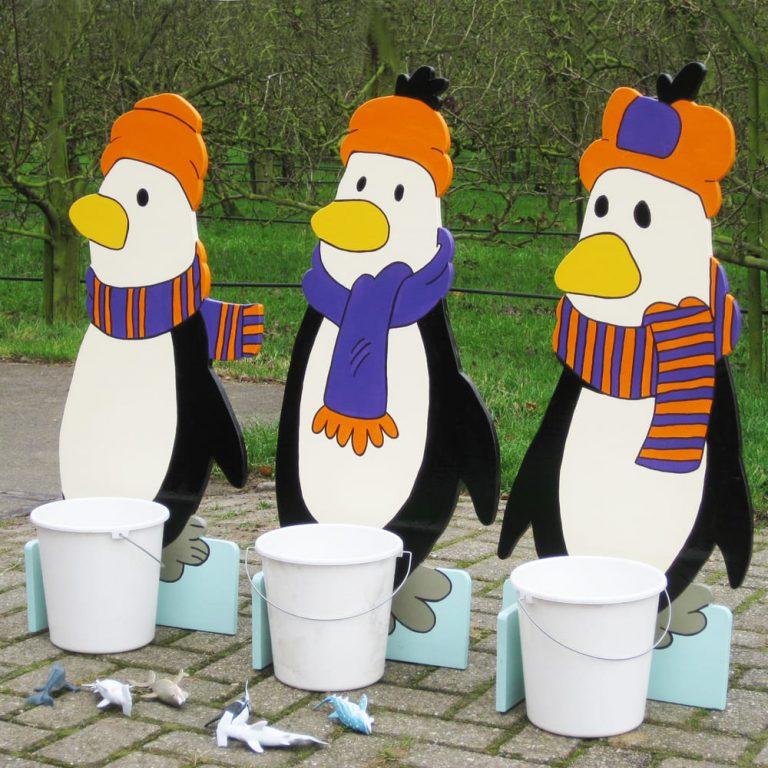 Pinguin Visjes voeren