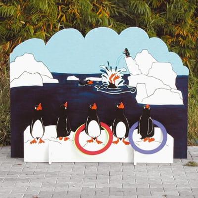 Ringen gooien pinguin