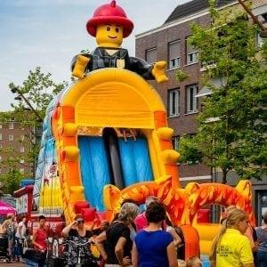 LEGO brandweer springkussen