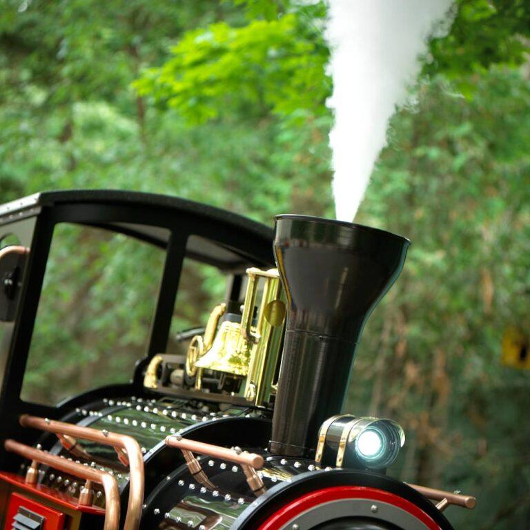 Nostalgische locomotief met rook